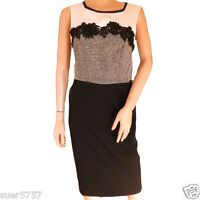 Ex GEORGE Ladies BLACK Lace Sleeveless Grey Cream Shift Dress Size 10 - 24 Party
