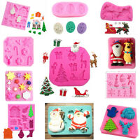 3D Cake Mold Fondant DIY Cookie Candy Soap Mould Xmas Baking Silicone Mold
