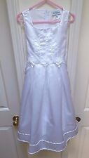 Rare Editions Girl's Solid White Dress-7-Special Occasion