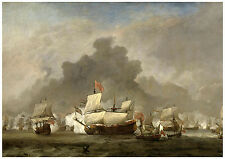 "Maritime ""Naval Battle between de Ruyter and Duke of York"" van de Velde ca. 1691"