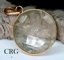 Gold Plated Faceted Round Citrine Pendant (FC19DG)