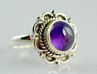 Amethyst 925 Solid Sterling Silver Handmade Ring (US-AMY-006)