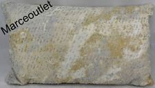 """Hotel Collection Metallic Stone Beaded 14"""" X 24"""" Decorative Pillow Gold"""