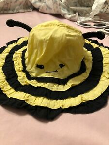 Used Gymboree Yellow Black Bee Sun Hat Sz 2-3