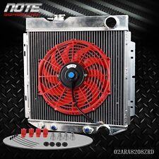 "62mm Aluminum Cooling Radiator + 12"" Fan For 64-66 FORD MUSTANG V8 I6 MT/AT"