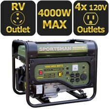 Sportsman Portable Generator with RV Outlet Gasoline Powered Automatic Shutdown