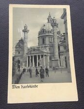POSTCARD: WIEN: KARLSKIRCHR: POSTED: POST DATE ON CARD IS 1939