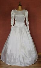 Vintage 80s Wedding Belle Dress Gown Victorian Edwardian Ball Theater Size 6/8