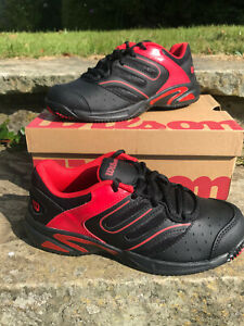 Wilson - JR Tour Construckt Kids - Tennis Shoes UK 5 - New with Box! Black/Red