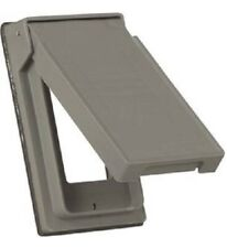Cooper Wiring Devices Weather Protective Outdoor Cover S2966, Gray