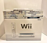 Nintendo Wii Console (RVL-101) Complete With Original Box, Inserts & 11 Games