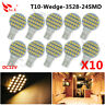 10X T10 LED 24SMD W5W 921 194  Light Bulbs Warm White 3500K Wedge RV Landscaping