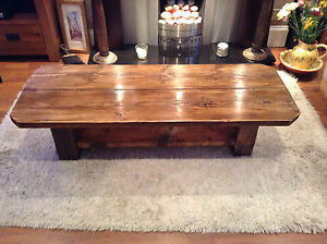 Le Dinan a rustic coffee table