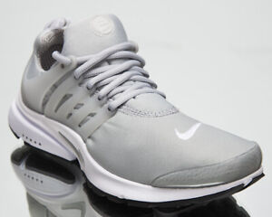 Nike Air Presto Men's Grey White Low Athletic Casual Lifestyle Sneakers Shoes