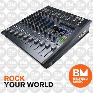 Alto Pro LIVE-802 Mixer 8-Ch w/ Effects 8 Channel FX - Brand New