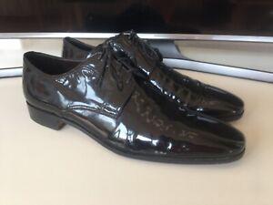 Bally Herren Schuhe Schwarz Lack Gr. 46