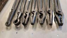 "7 Blacksmith Tongs Picard 20"" Box jaw Wolf, Flat, Round, mandrel, rivet, neck"