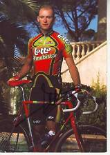 CYCLISME carte cycliste CHRIS PEERS équipe LOTTO MOBISTAR 1998 signée