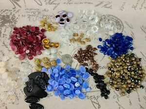Lot of VTG NOS Loose Glass Cabochon Beads ~ Jewelry Repair ~ CRAFTS
