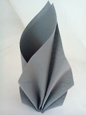 Duni Napkins 50 Disposable Dunilin Grante Silver/Grey Luxury Linen Look and Feel