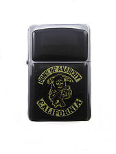 Lighter Sons of Anarchy Silver Refillable Windproof Oil Petrol Star Flip Top