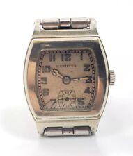 Vintage Mens 1931 Hamilton Raleigh White Gold Filled Unique Wrist Watch