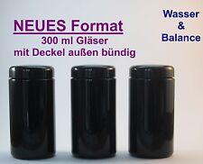 Miron Violettglas (Mironglas) 3 x 300 ml Weithalsglas  (außen bündig)