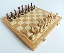 Brand new chêne & maple tournoi NR3 en bois chess set 35cm x 35cm