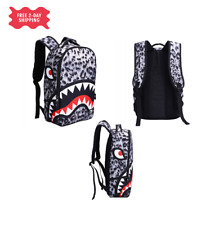 Shark Mouth Backpack Laptop Travel book bag for kids and adults Multipurpose NEW