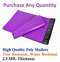 6x9 Purple Poly Mailers Shipping Envelopes Plastic Mailing Bags Colorful 6 x 9