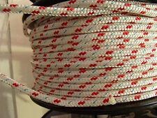 Treccia Su Corda Treccia Poliestere 8mm di diametro (Rosso Fleck)