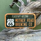 Mother Road Brewing Co Mini License Plate Route 66 Tin Tacker Metal Beer Sign