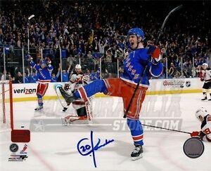 Chris Kreider New York Rangers Signed Autographed 8x10 Goal Celebration