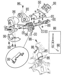 Genuine MOPAR Steering Coupling Upper 4470934