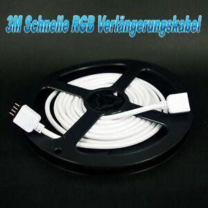 3M 5050 LED RGB Strip 4-Polig Schnell Anschluss Verbindung Verlängerungs Kabel