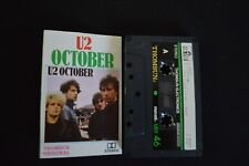 U2 OCTOBER ULTRA RARE CASSETTE TAPE!