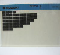 Suzuki DS250 1980 Parts Microfiche s227