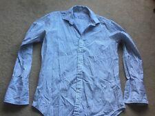T M Lewin white striped cotton shirt size 16.5 slim fit