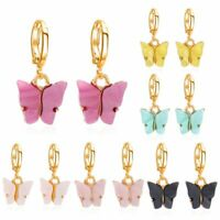 Fashion Women's Butterfly Acrylic Ear Hoop Earrings Drop Dangle Jewelry Charm