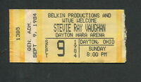 1984 Stevie Ray Vaughan Concert Ticket Stub Dayton Couldn't Stand The Weather