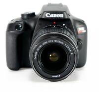 NEW Canon EOS 3000D Rebel T100 18mp DSLR Camera w/ 18-55mm Lens
