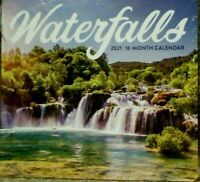 2021 16 Month Wall Calendar - WATERFALLS  - Great Art Decor SALE