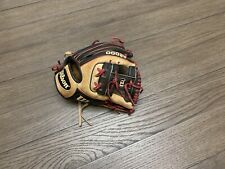 "Wilson A2000 DP15 11.5"" I Web Baseball Glove Black Red Camel"