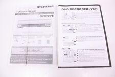 Sylvania Dvr90Ve Owner's Manual