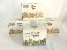Lot of 4 Lilliput Lane Pussy Willow Spinney Puddlebrook Wren Cottage New in Box