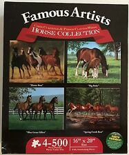 NEW & Sealed Horse Collection Famous Artist 4 x 500 pcs Puzzles Interlocking