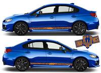 Rocker Stripe Stripes Decals Graphics Fit Subaru STi Forester Crosstrek