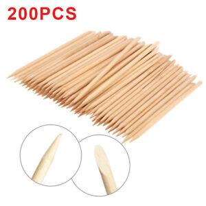 200PCS Orange Wood Sticks Nail Art Cuticle Pusher Tool Remover Many Options UK