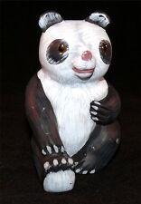 Vintage Soapstone Stone Panda Bear People's Republic China 1970s Glass Eyes