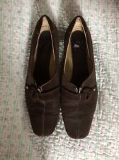 Incredibly Comfortable K By CLARKS Chocolate Brown Suede Buckle Shoes-size 6 VGC